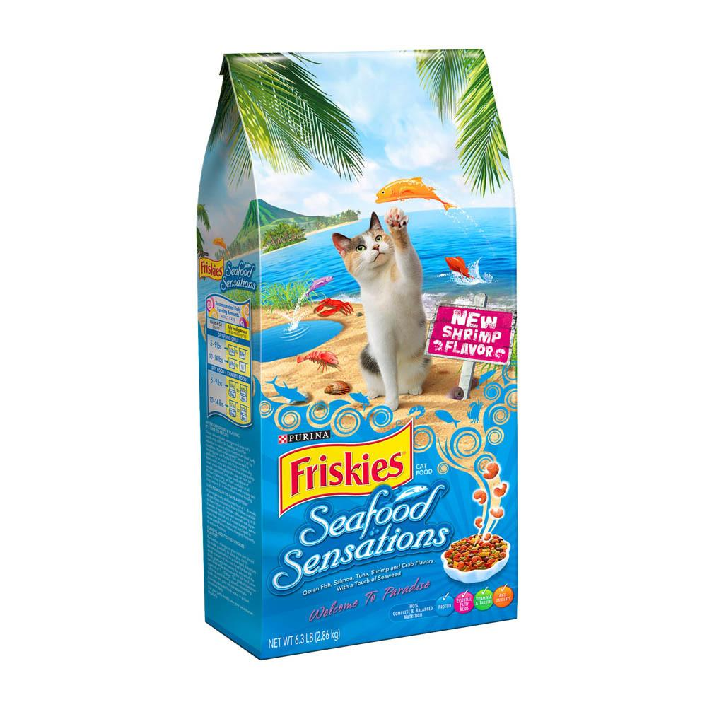 PURINA FRISKIES Seafood Sensations Cat Dry Food (2.86 KG) - Sanadeeg