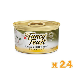 PURINA FANCY FEAST Classic Turkey & Giblets Wet Cat Food (24 x 85 gm) - Sanadeeg