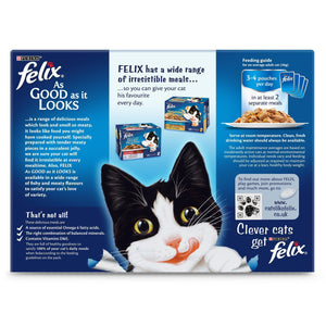 PURINA FELIX Wet Cat Single Serve As Good as it Looks Meat Selection (12 x 100 gm) - Sanadeeg