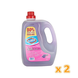 Clorox 5 in 1 Disinfectant Lavender Floor Cleaner (2 x 4.5 L) - Sanadeeg