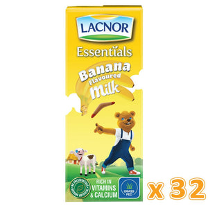 Lacnor Banana Flavoured Milk ( 32 x 180 ML)