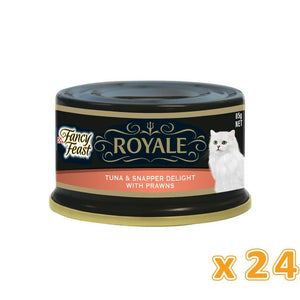 PURINA FANCY FEAST Royale Tuna & Snapper Delight with Prawn Wet Cat Food (24 x 85 gm) - Sanadeeg