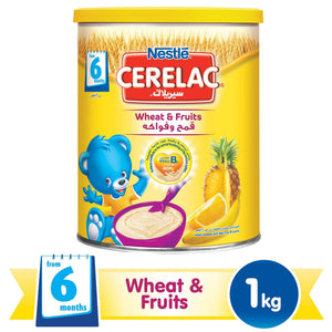 Nestlé® CERELAC® From 8 Months, Wheat and Fruit with Milk Infant Cereal 1kg Tin - Sanadeeg