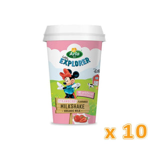 Arla Little Explorers Strawberry Low Fat Organic Milkshake (10 x 180 ml) - Sanadeeg