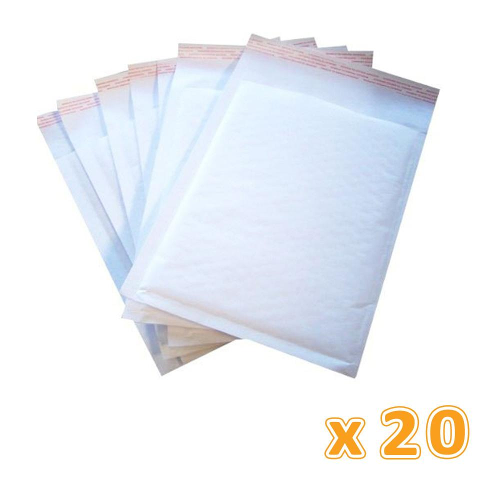 Bubble Envelop A4 Size White (1 X 20 Pcs) - Sanadeeg