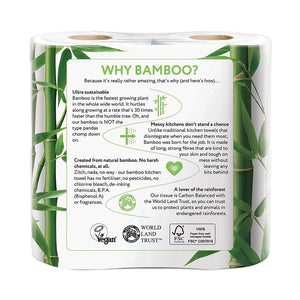 CHEEKY PANDA ECO FRIENDLY BAMBOO KITCHEN TOWEL 2 Ply (2 Rolls) - Sanadeeg