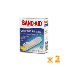 BAND-AID COMFORT FIT SHEER ADHESIVE BANDAGES (2 x 20 Pcs) - Sanadeeg
