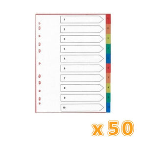 Divider 10 Color Pvc Assorted (1 X 50 Pcs) - Sanadeeg