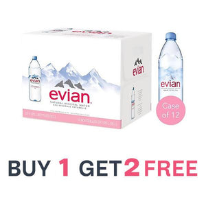 SPECIAL OFFER - Evian Natural Mineral Water (12 X 1.25 L) Buy 1 Get 2 FREE