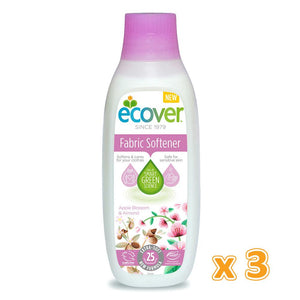 Ecover Fabric Softener Apple Blossom & Almond  (3 x 750 ML) - Sanadeeg