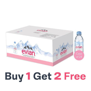 SPECIAL OFFER - Evian Natural Mineral Water (24 X 500 ML) Buy 1 Get 2 FREE