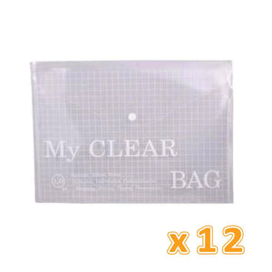 Document My Clear Bag Clear (1 X 12 Pcs) - Sanadeeg