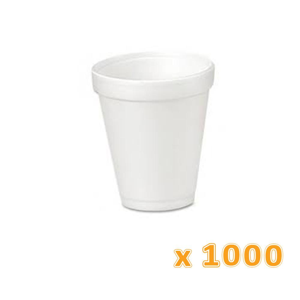 Falcon Foam Cup 8 Oz (1000 Cups) - Sanadeeg