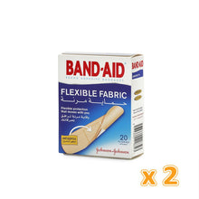 BAND-AID FLEXIBLE FABRIC ADHESIVE BANDAGES (2 x 20 Pcs) - Sanadeeg