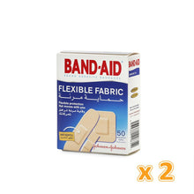 BAND-AID FLEXIBLE FABRIC ADHESIVE BANDAGES Assorted( 2 x 50 Pcs) - Sanadeeg