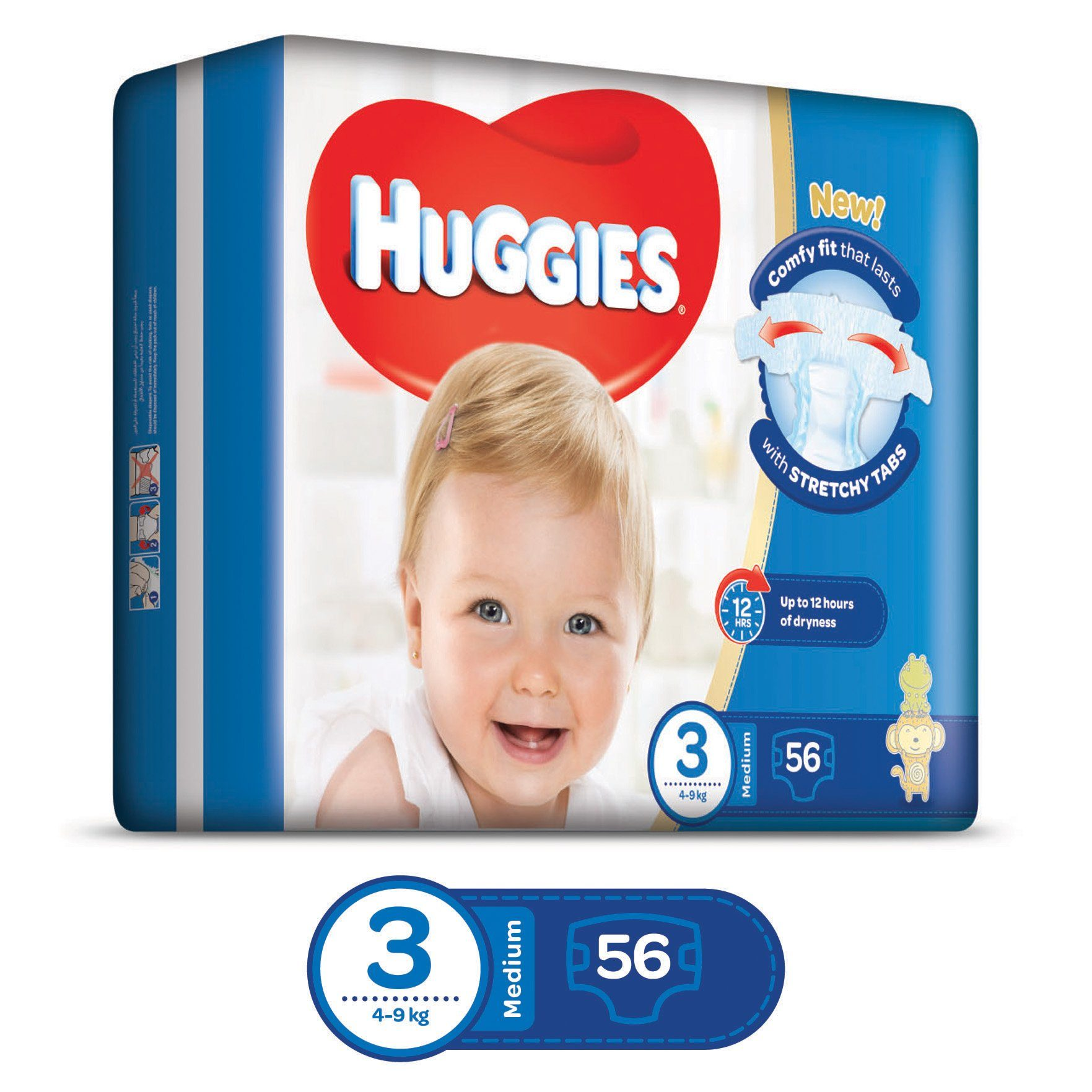 5e43f87f1fd ... HUGGIES Diapers Economy Pack Size 3 (2 x 56 Diapers) - Sanadeeg ...