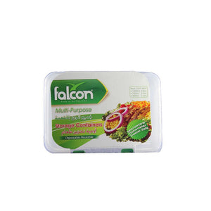 Falcon Mircowave Plastic Container with Lid 1000 cc (5 Pcs) - Sanadeeg