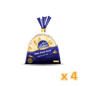 Royal Bakers White Arabic Bread Medium (4 X 175 Gm) - Sanadeeg
