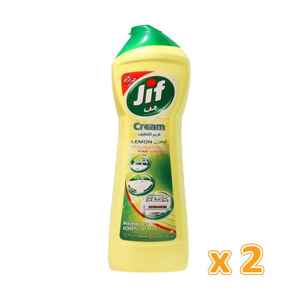 Jif Lemon Cream with Microparticles (2 X 1 L) - Sanadeeg
