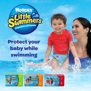 Huggies Diapers Little Swimmers Large 14+ Kg  (10 Diapers) - Sanadeeg