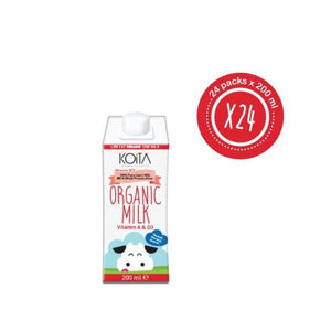 Koita Low Fat Organic Cow Milk (24 x 200 ML) - Sanadeeg