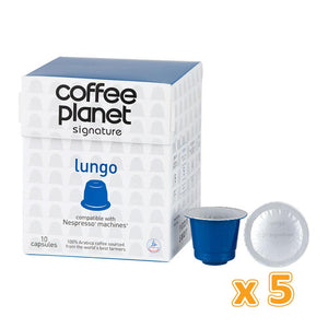 Coffee Planet LUNGO Coffee Capsules (50 capsules)