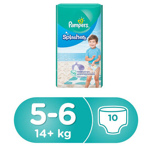 Pampers Splashers Swimming Pants, Size 5-6, 14 kg, Carry Pack (10 Count)