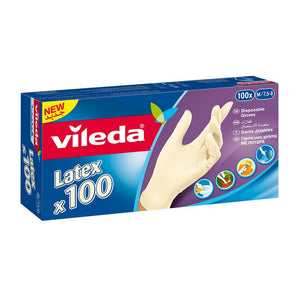 Vileda Latex Glovers Box - small (1 x 100 gloves) - Sanadeeg