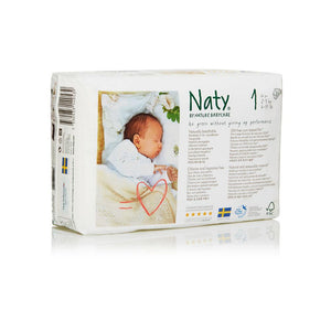 Naty BY NATURE Nappies Diapers Size 1- 4 KG (26 Pcs) - Sanadeeg