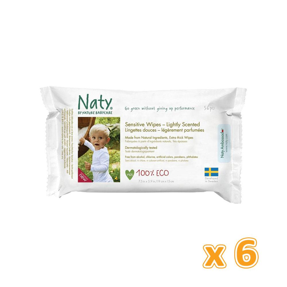 Naty Lightly Scented Wipes (6 x 56 Pcs) - Sanadeeg
