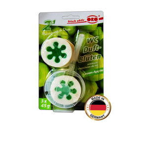 ORO 2 in 1 Toilet Freshener Rim Block Green Apple (3 x 45 gm) - Sanadeeg