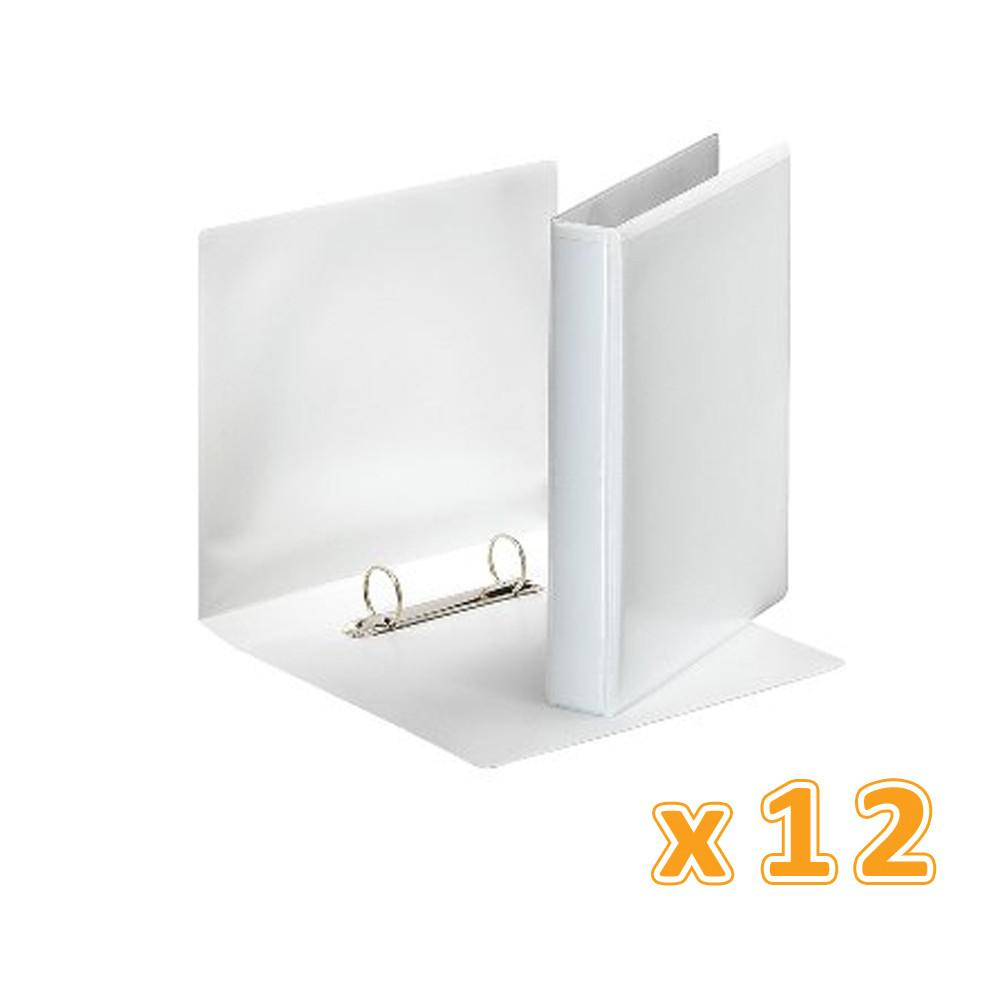 Ring Binder 2Ring 90 mm White Presentation  (1 X 12 Pcs) - Sanadeeg