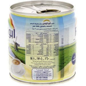 Rainbow Evaporated Milk Fortified Original (12 X 170 gm) - Sanadeeg