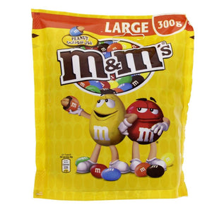 M&M's Milk Chocolate Covered Peanut In A Thin Crisp Shell (300 gm) - Sanadeeg