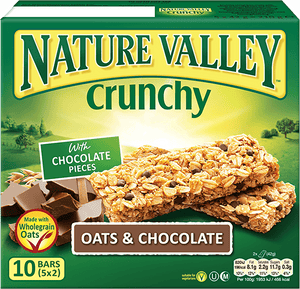 Nature Valley Crunchy Granola Bars - Oats & Cholocate (10 Bars) - Sanadeeg