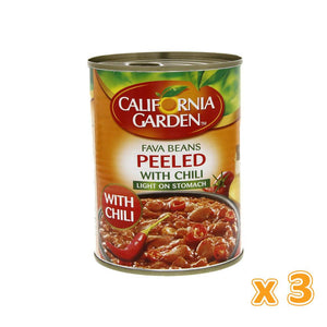 California Garden - Peeled Foul with Chilli (3 X 450 gm) - Sanadeeg
