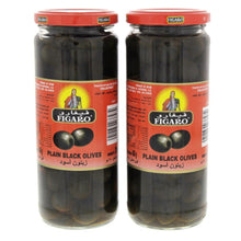 Figaro Plain Black Olives (2 X 270 gm) - Sanadeeg