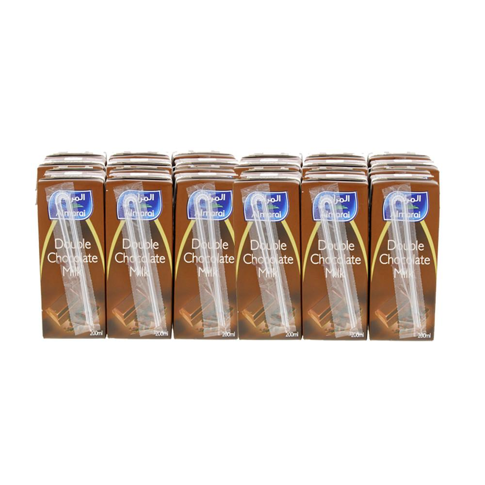 Almarai Double Chocolate Milk (18 X 200 ml) - Sanadeeg