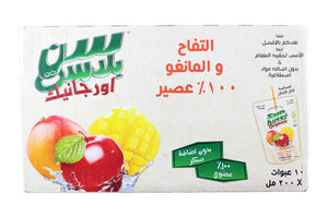Sun Blast Organic Apple & Mango Juice (10 X 200 ml) - Sanadeeg
