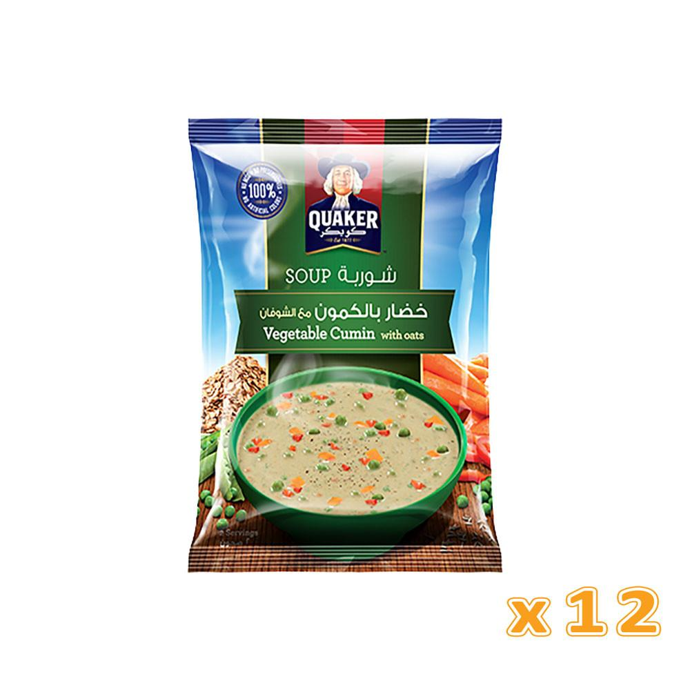 Quaker Soup - Vegetable Cumin with Oats (12 pack) - Sanadeeg