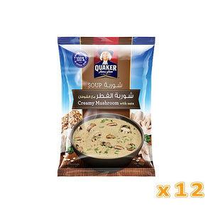 Quaker Soup - Cream of Mushroom with Oats (12 pack) - Sanadeeg