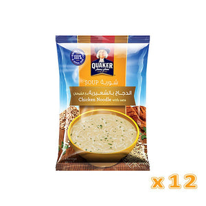 Quaker Soup - Chicken Noodles with Oats (12 pack) - Sanadeeg