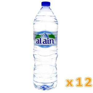 Al Ain Bottled Drinking Water (12 x 1.5 L) - Sanadeeg