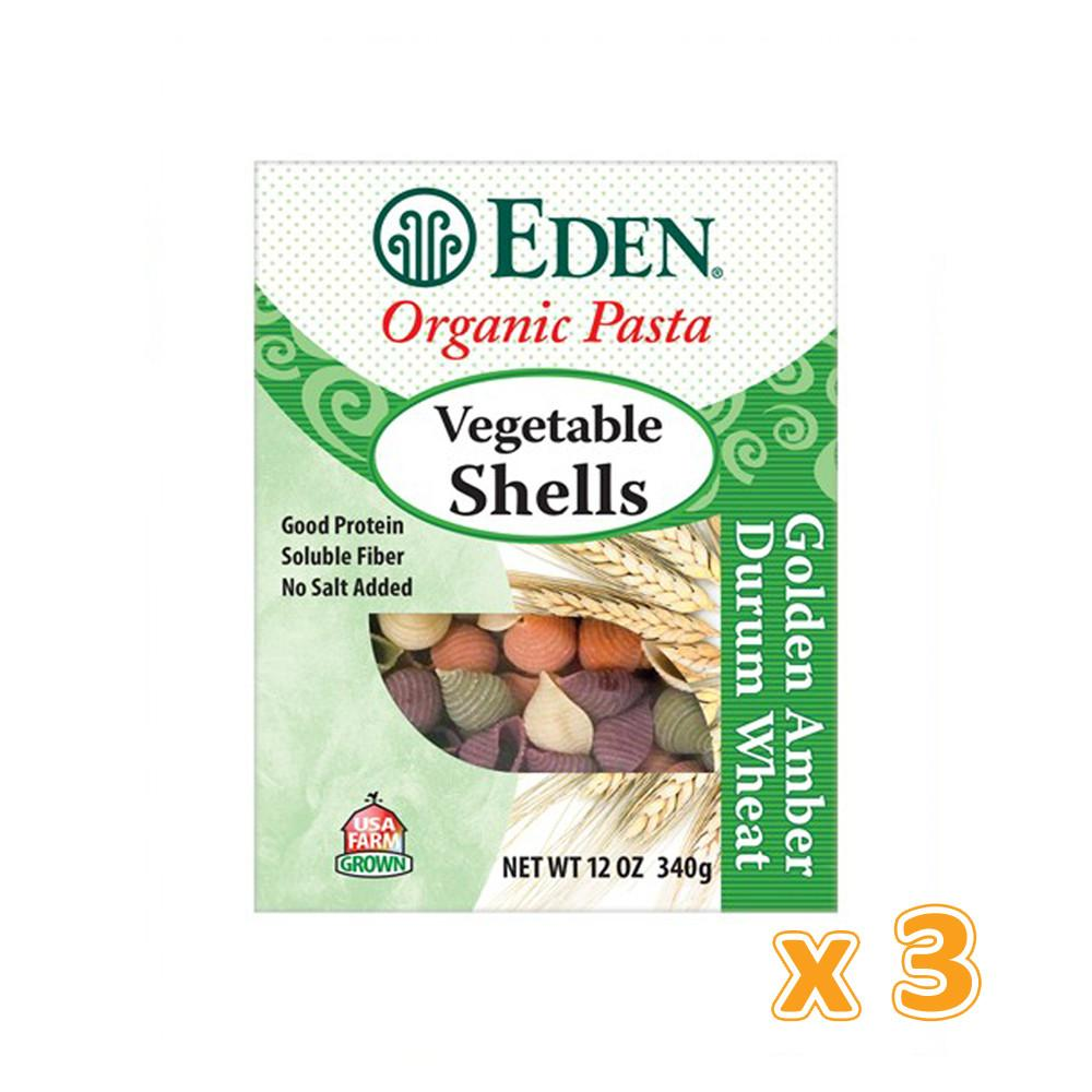 EDEN - Organic Vegetable Shells (3 X 340 gm) - Sanadeeg