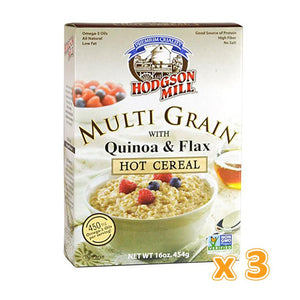 HODGSON MILL - Premium Quality Multi-Grain With Quinoa & Flax Hot Cereal (3 X 454 gm) - Sanadeeg