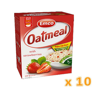 EMCO - Expres Oat Meal with Strawberries (Case of 10) - Sanadeeg