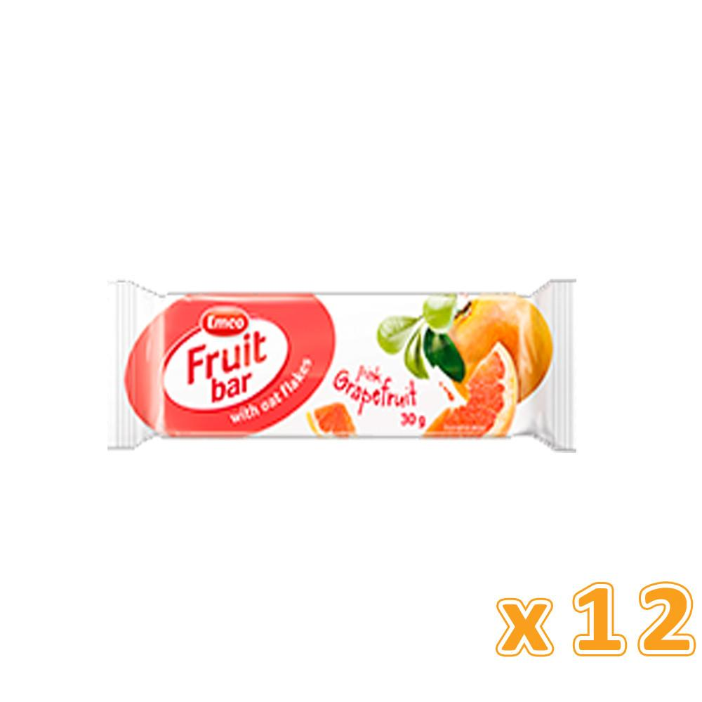 EMCO - Fruit Bar With Oat Flakes & Pink Grape Fruit (12 bars) - Sanadeeg