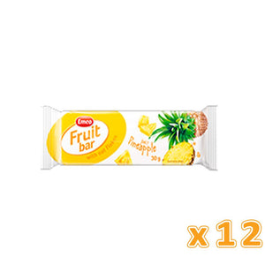 EMCO - Fruit Bar With Oat Flakes & Juicy Pineapple (12 bars) - Sanadeeg