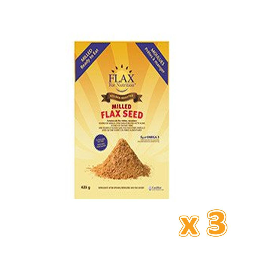 Canmar - Golden Roasted Milled Flaxseed (3 X 425 gm) - Sanadeeg
