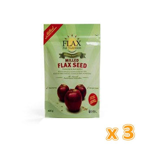 Canmar - Golden Roasted Milled Flaxseed with Apples Cinnamon (3 X 425 gm) - Sanadeeg